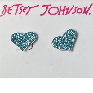 NWT Betsey Johnson 💙 earrings